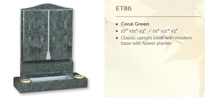 coral green headstone