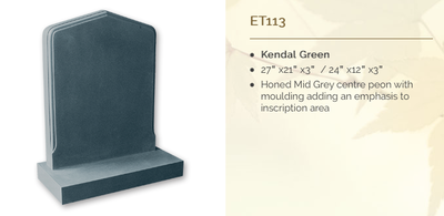 kendal green headstone