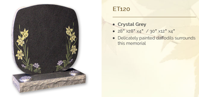 crystal grey headstone