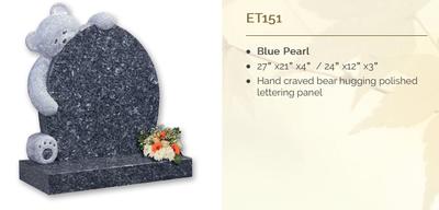blue pearl headstone