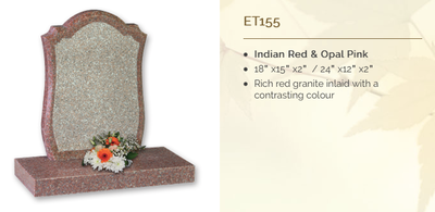 indian red & opal pink headstone
