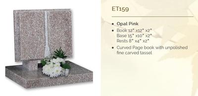 opal pink headstone