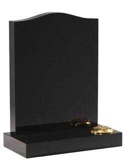 classic black ogee granite headstone