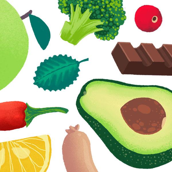 Illustrierte Design für eine Ernährungsberaterin