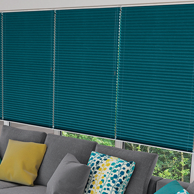 coloured pleated blind