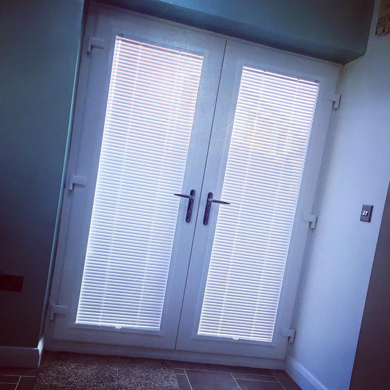 perfect fit blind on french doors