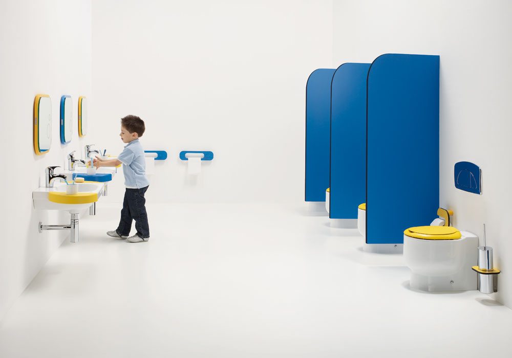 Playschool Bathrooms - Colourful Sanitary Ware for Children