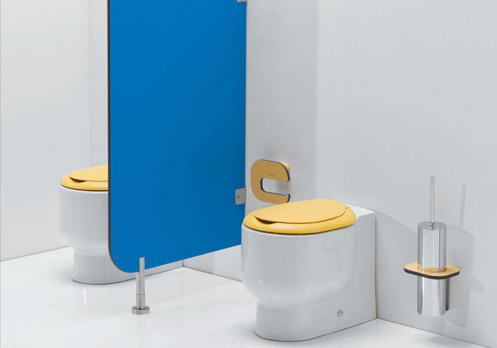 Tiny Toilets for Up to 5 Years of Age with Privacy Divider