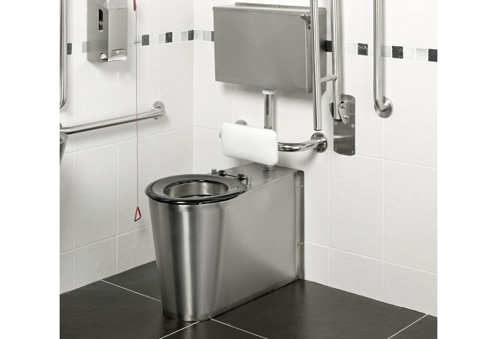 Armourlight Stainless Steel Anti Vandal Disabled Toilet