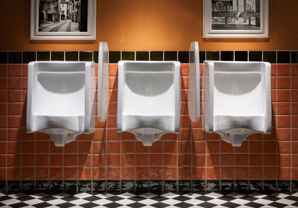Florida Urinals with Privacy Dividers