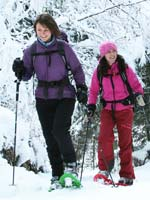 Enjoy snowshoeing based in Chamonix, the French Alps. Image courtesy www.hemsleyphotography.co.uk