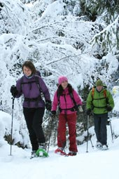 Snowshoeing with Mountain Balance. Image courtesy www.hemsleyphotography.co.uk