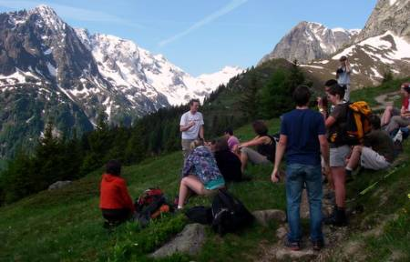 Group with Mont Blanc in the background