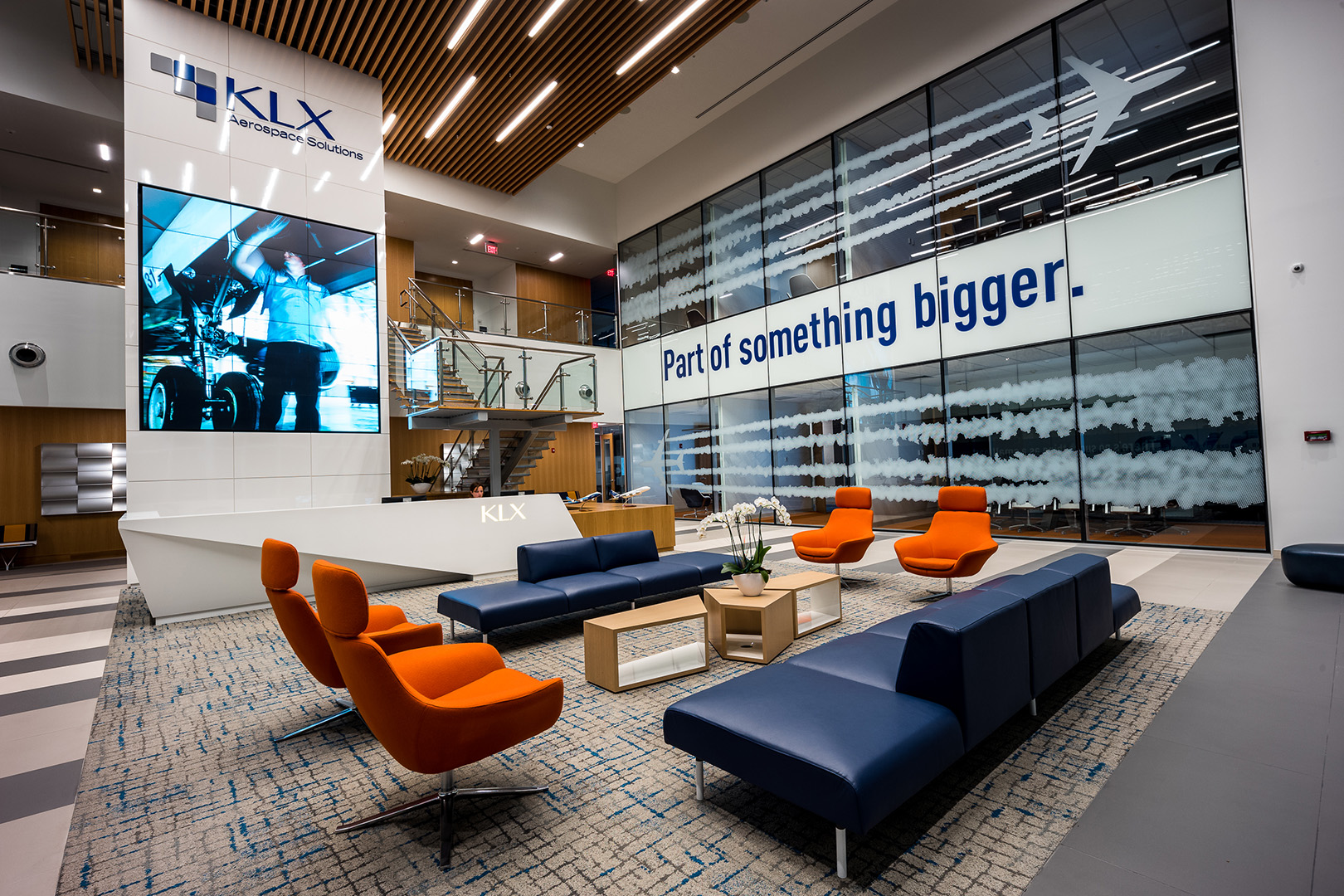 ddi KLX Boeing Corporate Lobby Video Wall Project