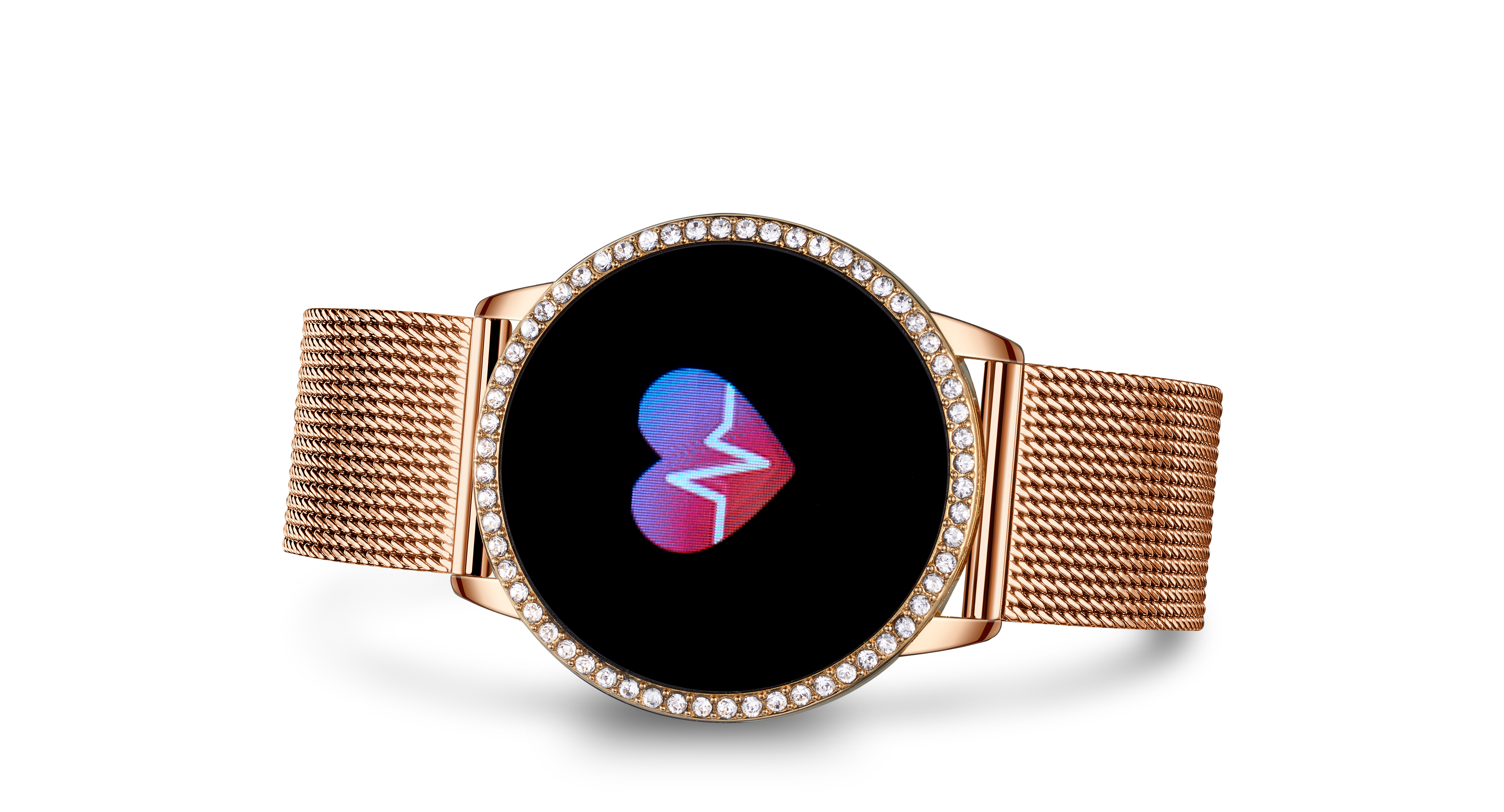 "Rose Gold-Tone ""Smartwatch Milano"" Watch"