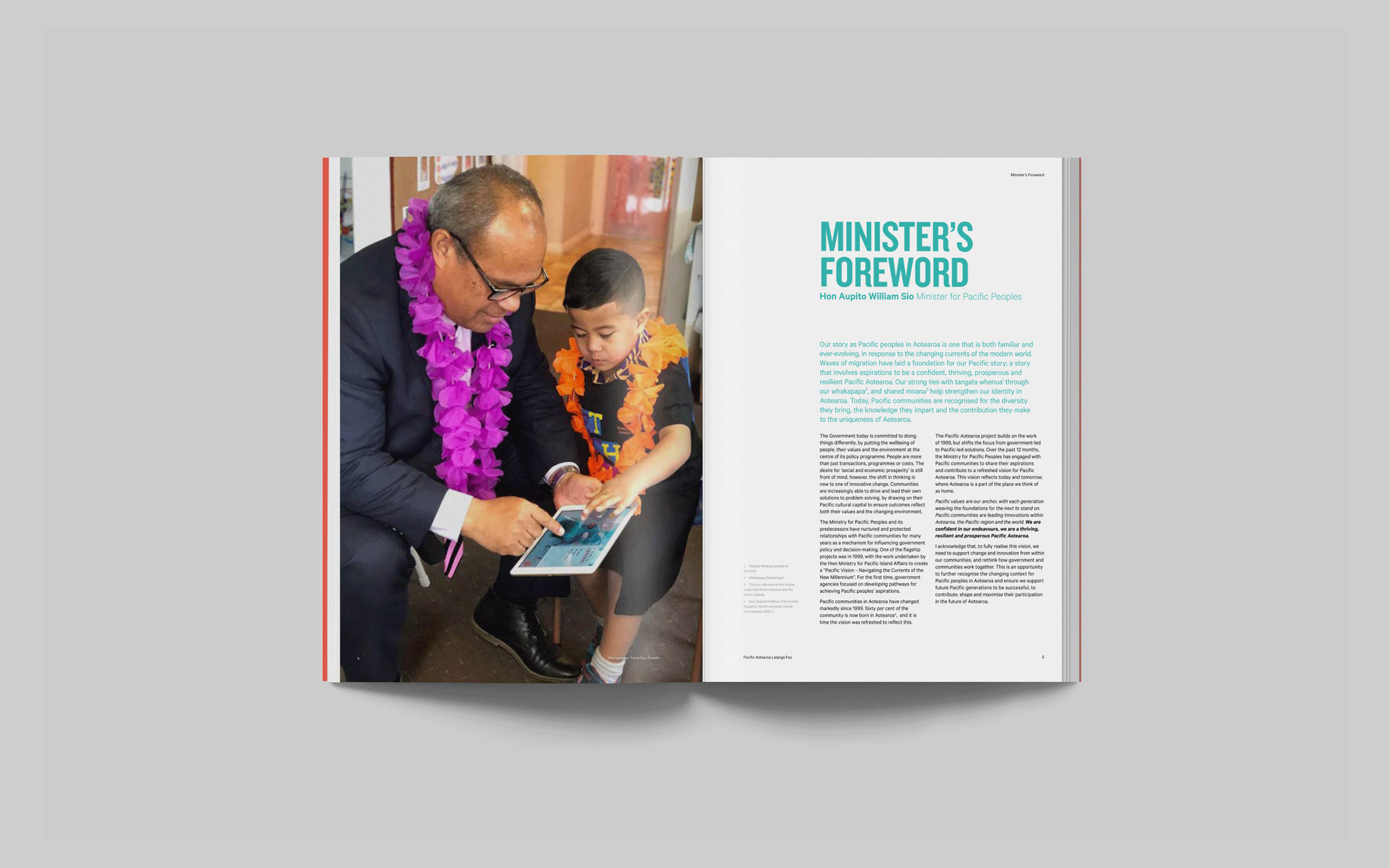 Ministry of Pacific Peoples Brochure Spead