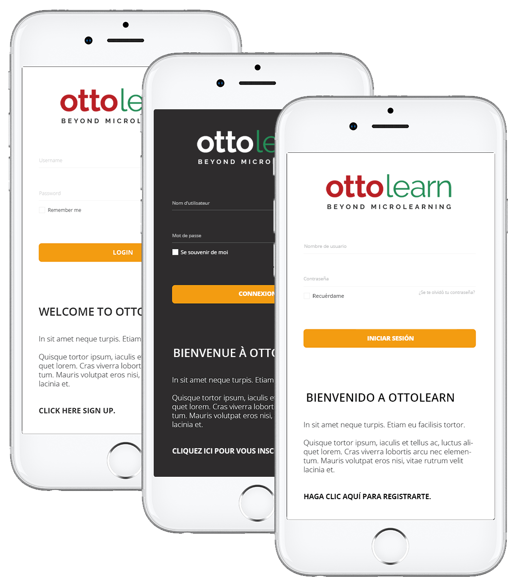 Otto's Platform is Multilingual - OttoLearn Adaptive Microlearning