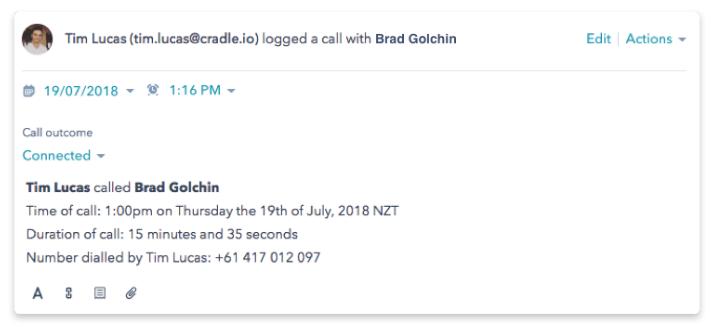 Cradle Hubspot Integration