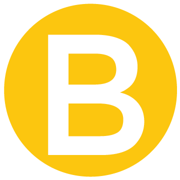 yellow B for belong