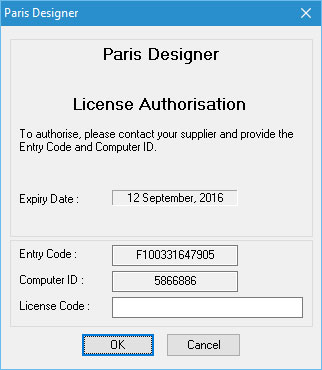 Here is an example of what the AUthorization dialog looks like