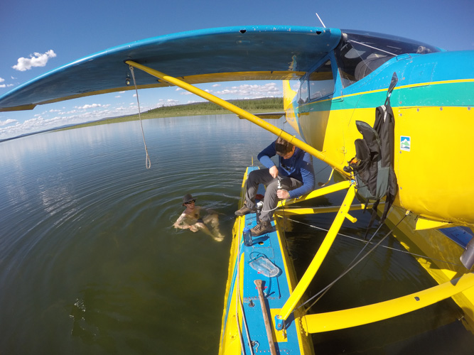 Swimming in ANWR off plane