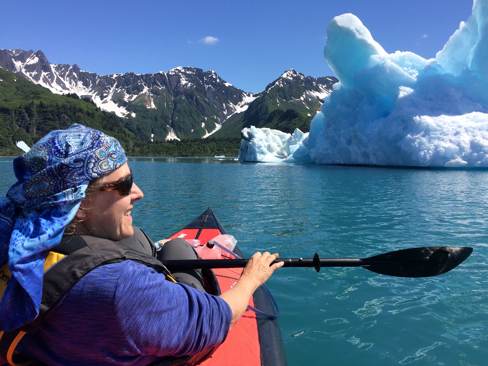 Kayaking Bear Glacier