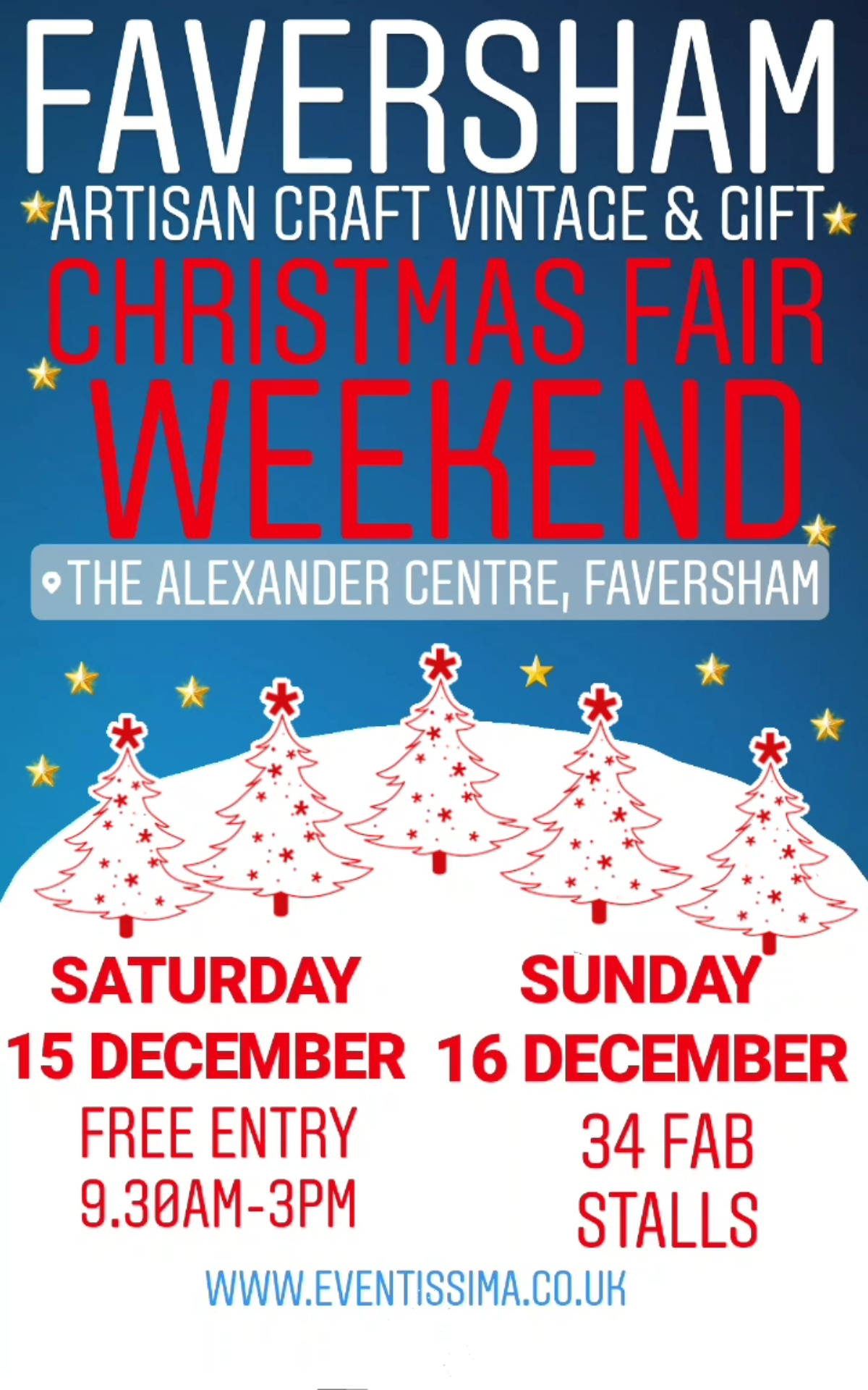 Eventissima Artisan Craft, Vintage and Gift Christmas Weekend Fair