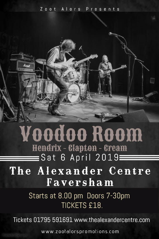 Voodoo Room - the music of Hendrix, Clapton and Cream