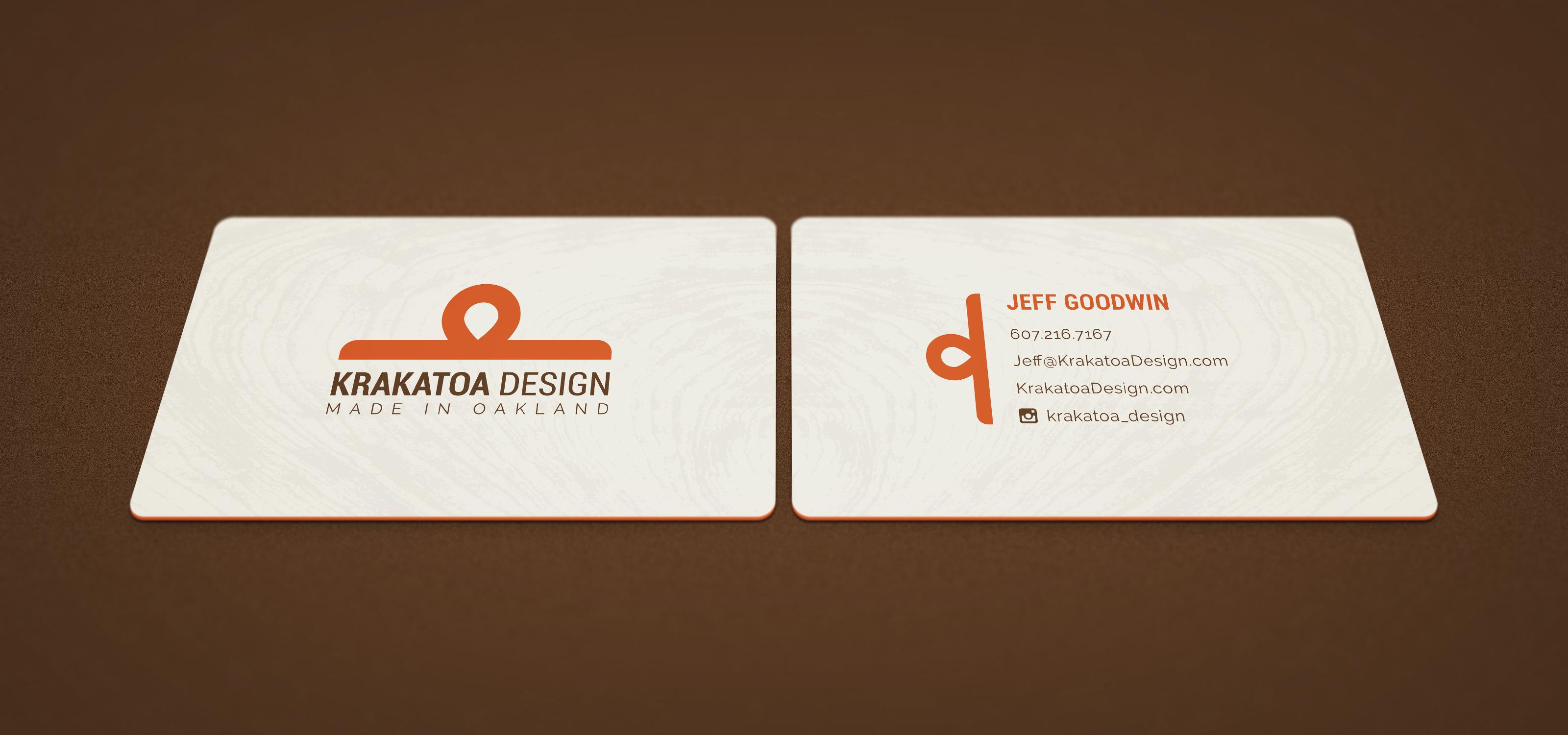 branding krakatoa design business card