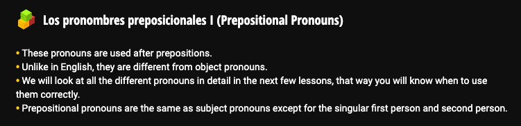 "Screenshot of complicated-sounding Ouino Spanish grammar ""tip"""