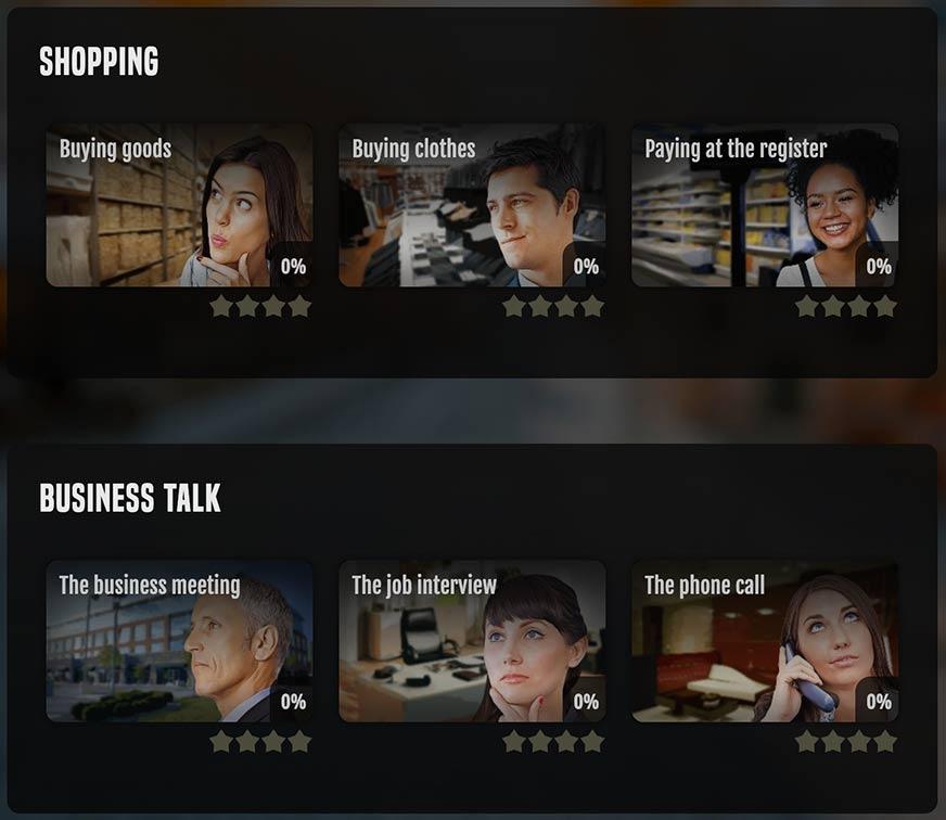 Conversations menu