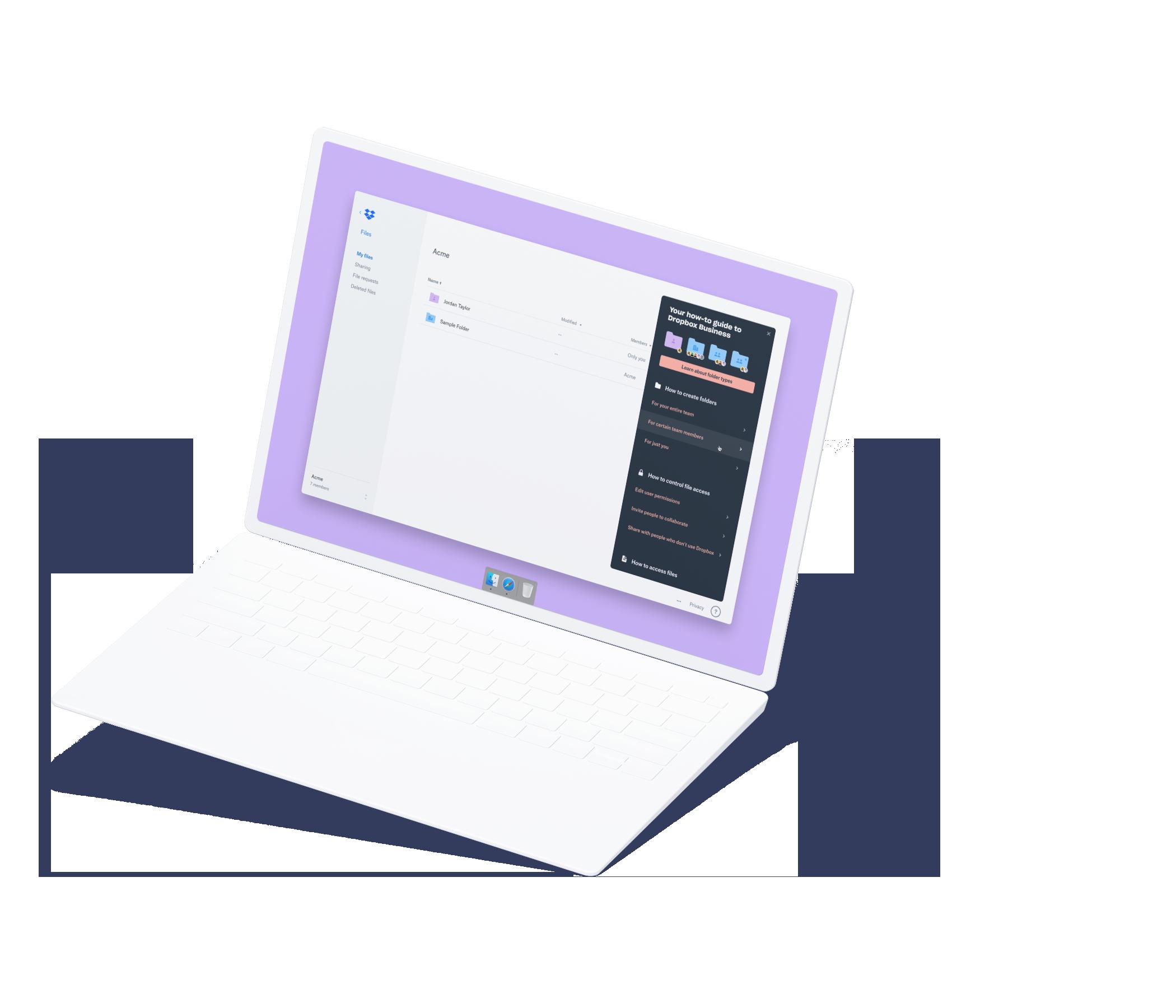 Laptop mockup showing In-App Education Module