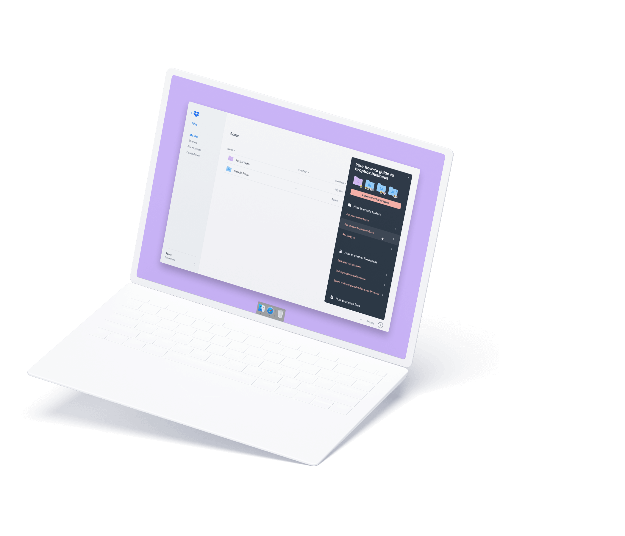 Laptop mockup showing In-App Education Module