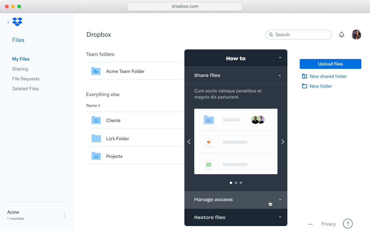 Website mockup - showing the how-to module