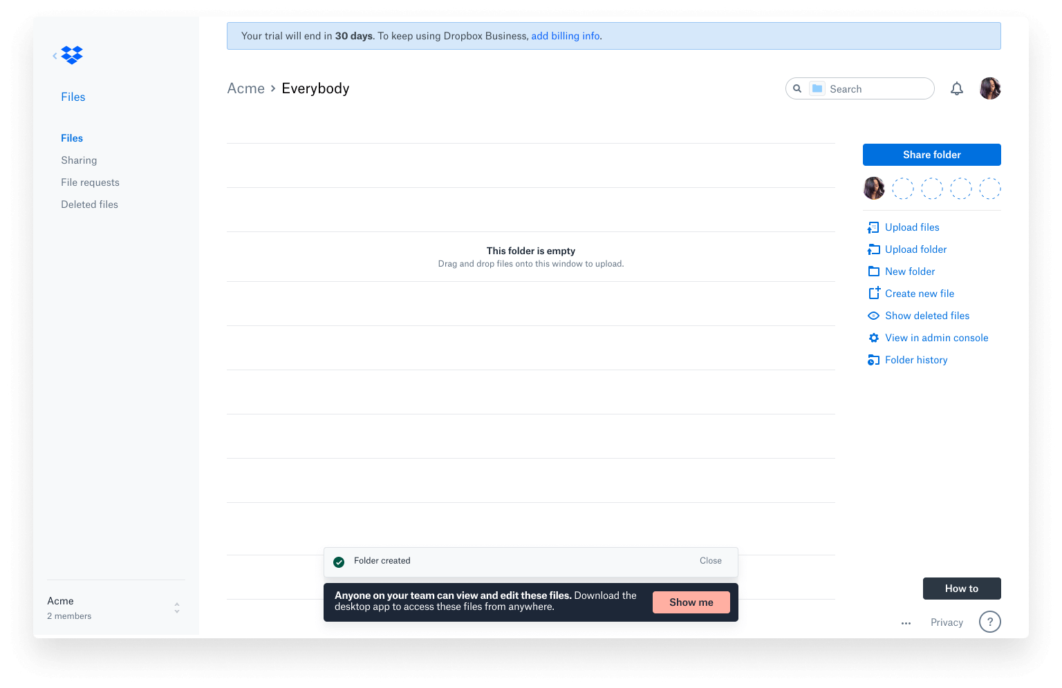 Website mockup - showing the final Rich Confirmation for user actions