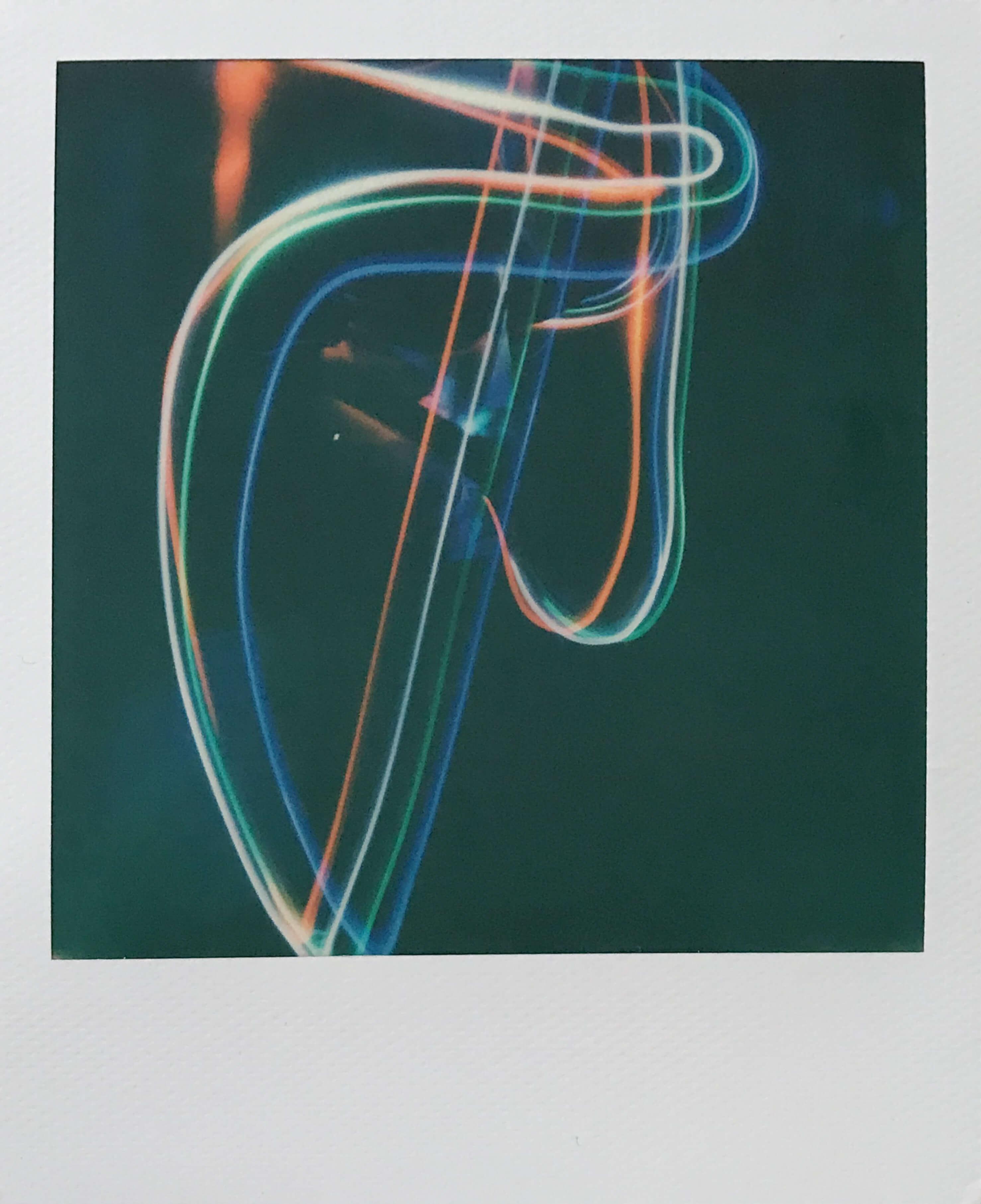 Polaroid of light painting