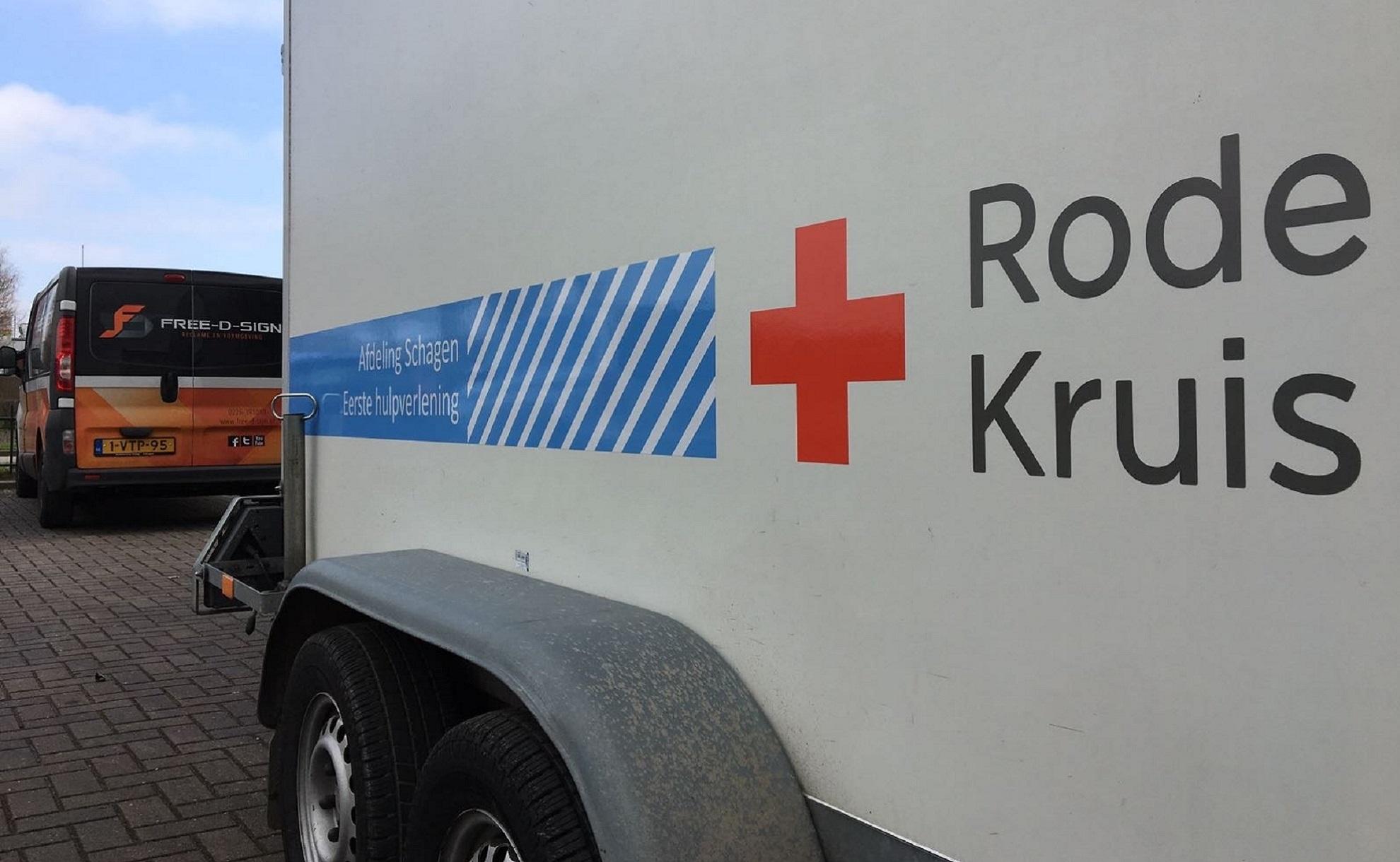 Aanhanger belettering - Rode Kruis
