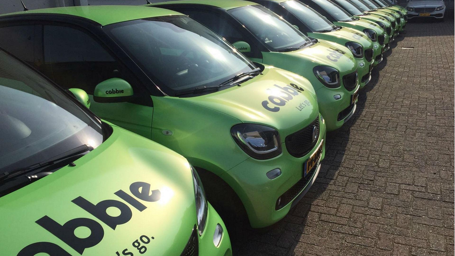 Coole Cabbie taxi's kleuren Amsterdam groen