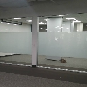 Image of Matte Finish office partition for privacy.