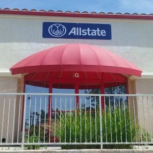 Picture of bronze window tint applied in Murrieta at an Allstate office.