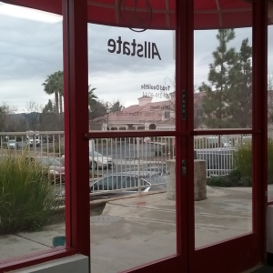 Photo of commercial window tinting job in Murrieta CA looking out