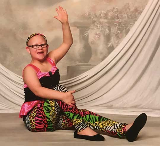 The DSRG was able to fully fund Kayla's entire year of dance each year.
