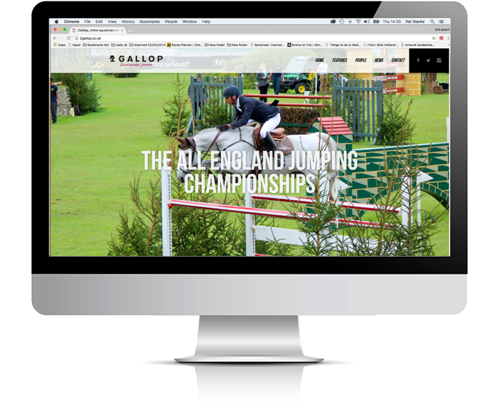 2 Gallop website by Stake Creative