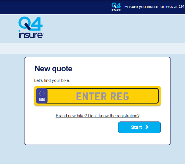 Q4 Bike Insurance Quote Form