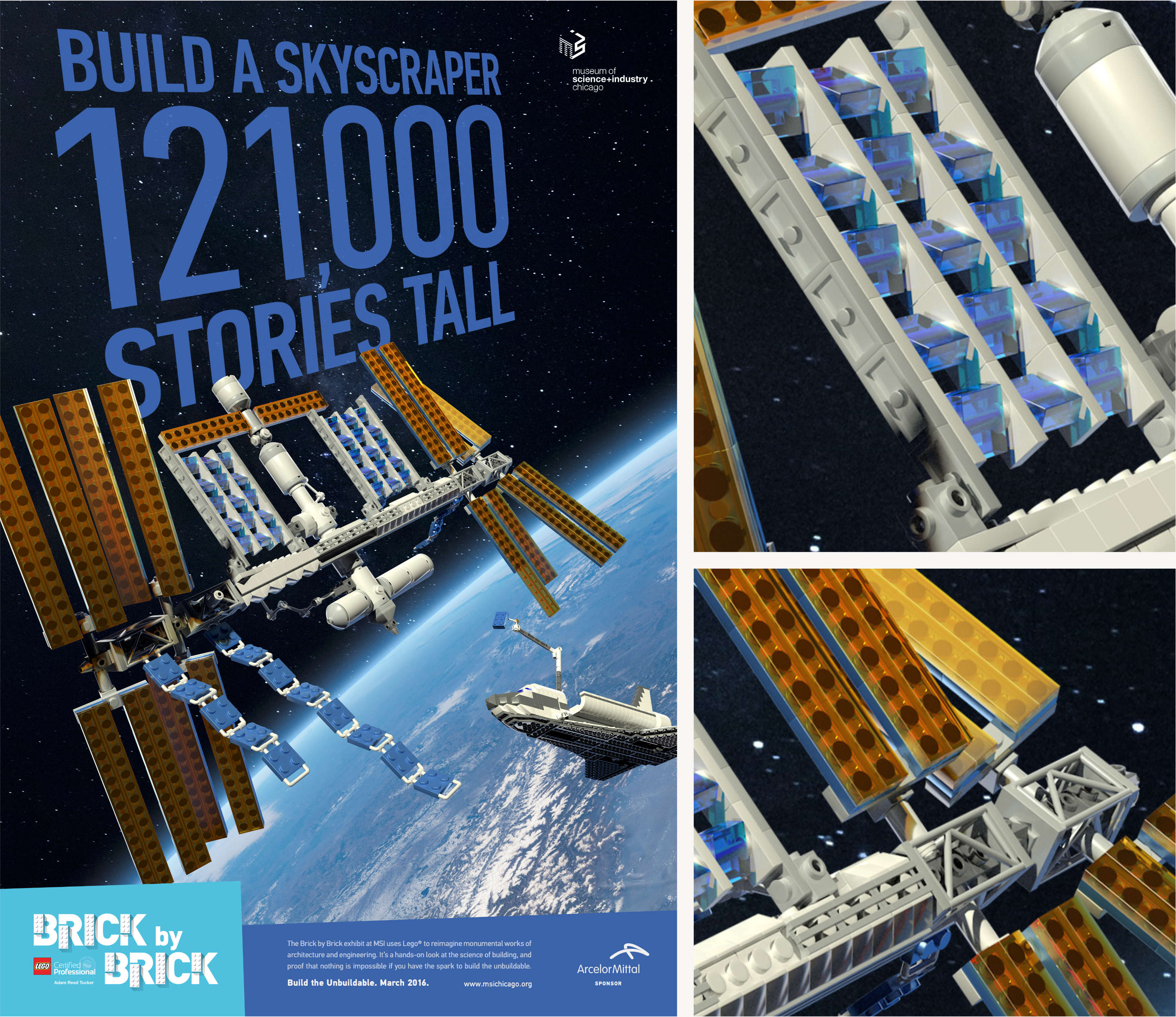 LEGO Space Station Advertisement Design