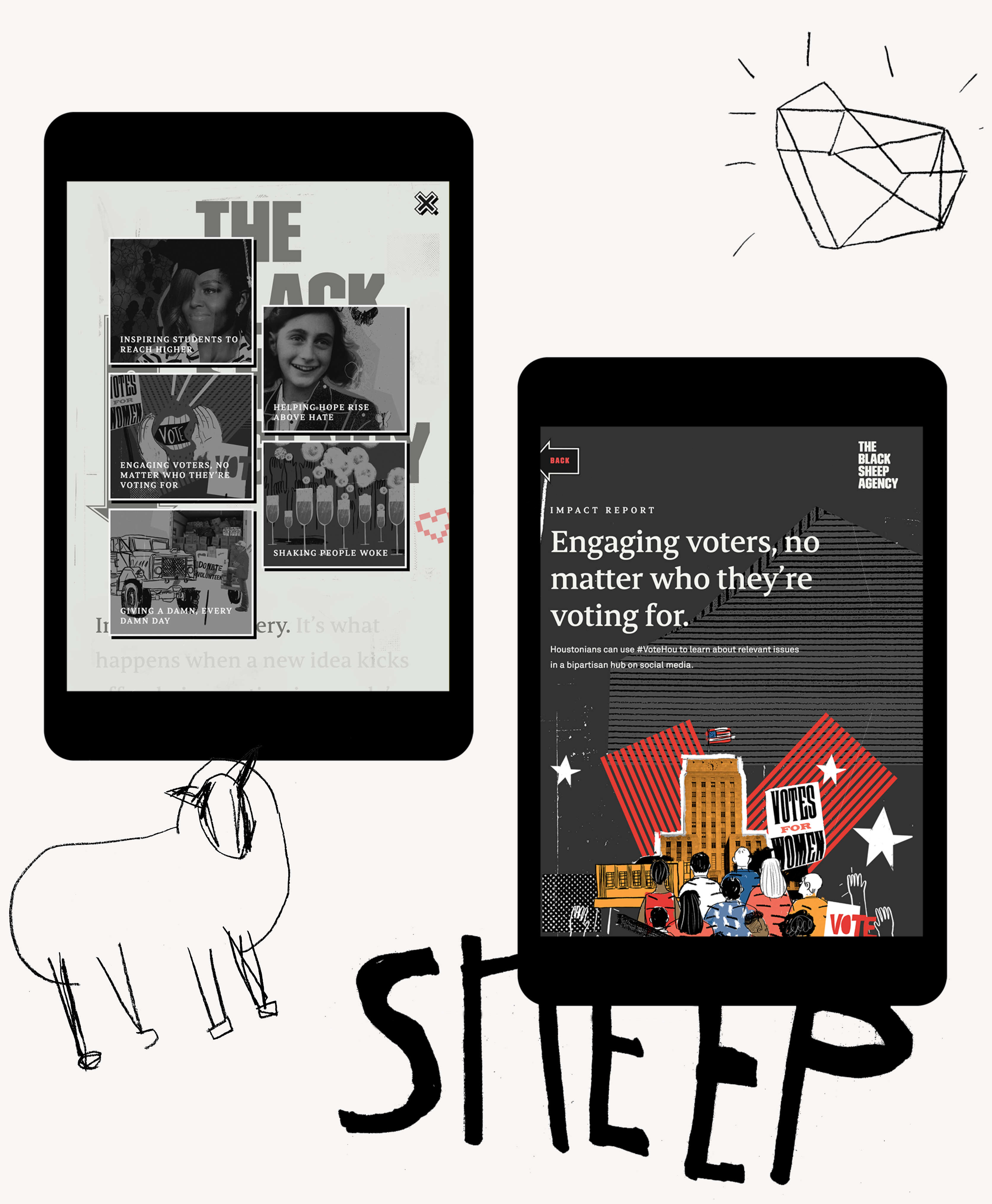 Black Sheep Website Tablet