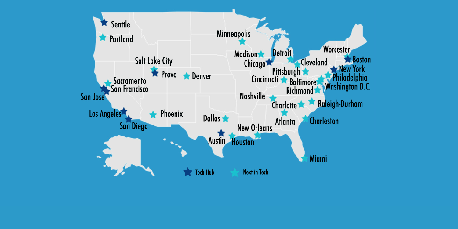 The Next in Tech: 25 Emerging Startup Hubs