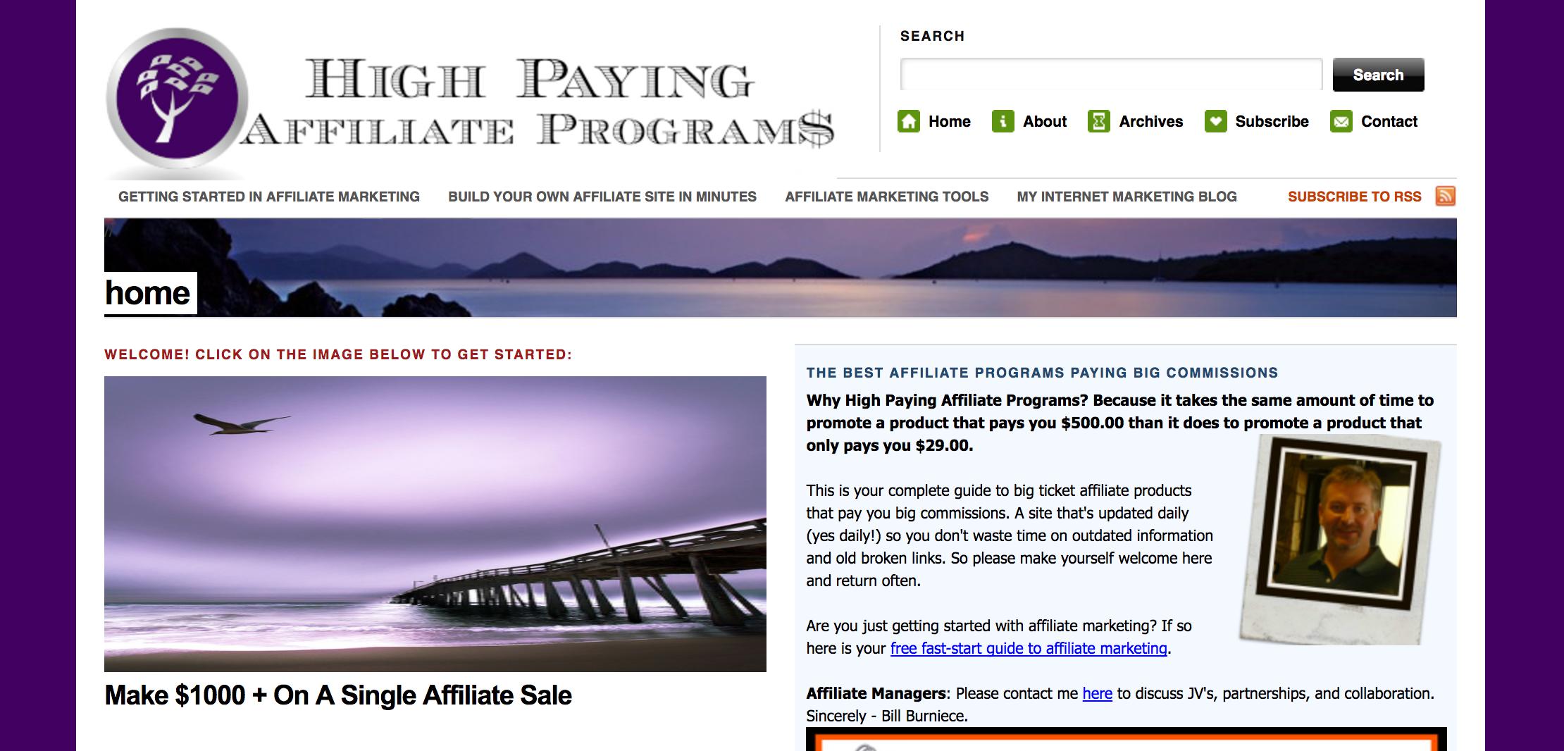High Paying Affiliate Programs Blog