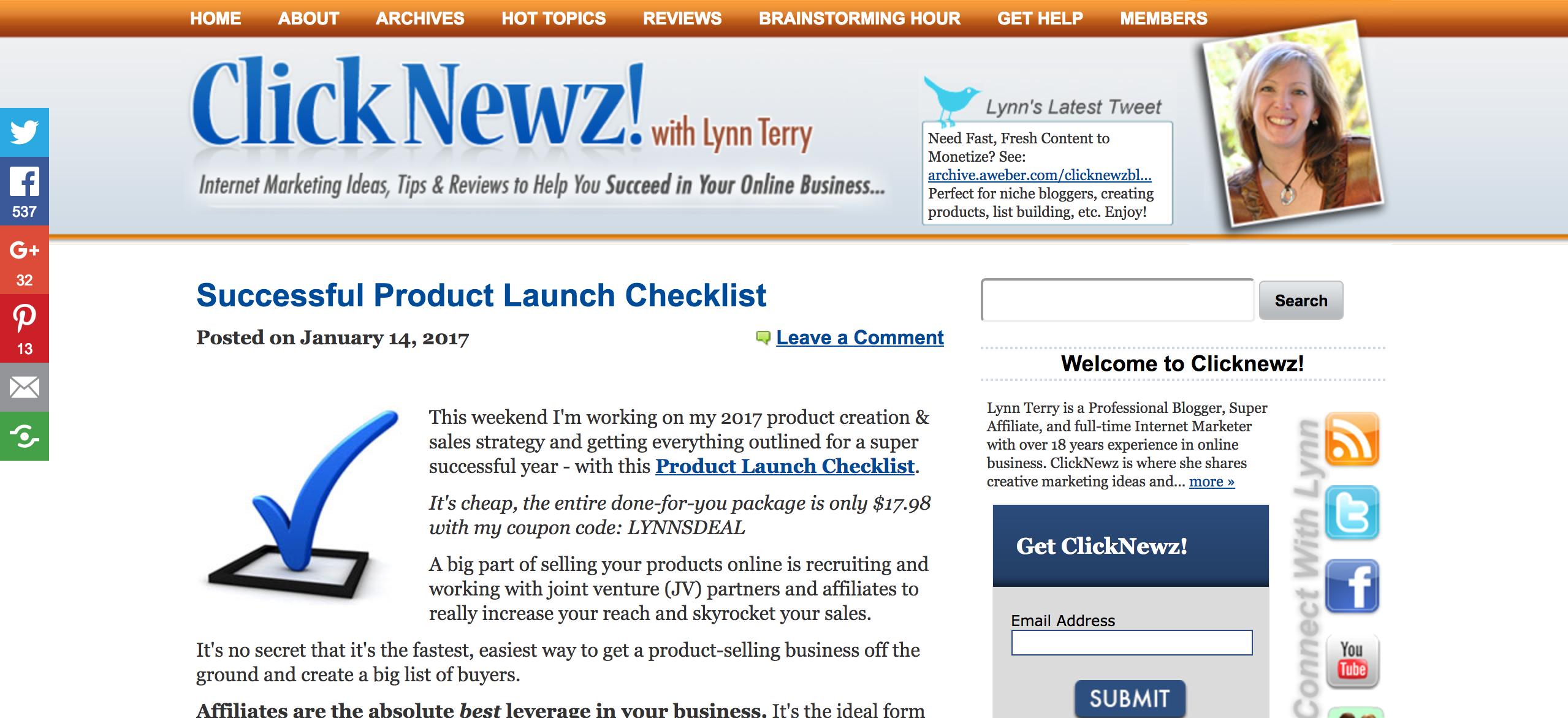 ClickNewz! Internet Marketing Blog