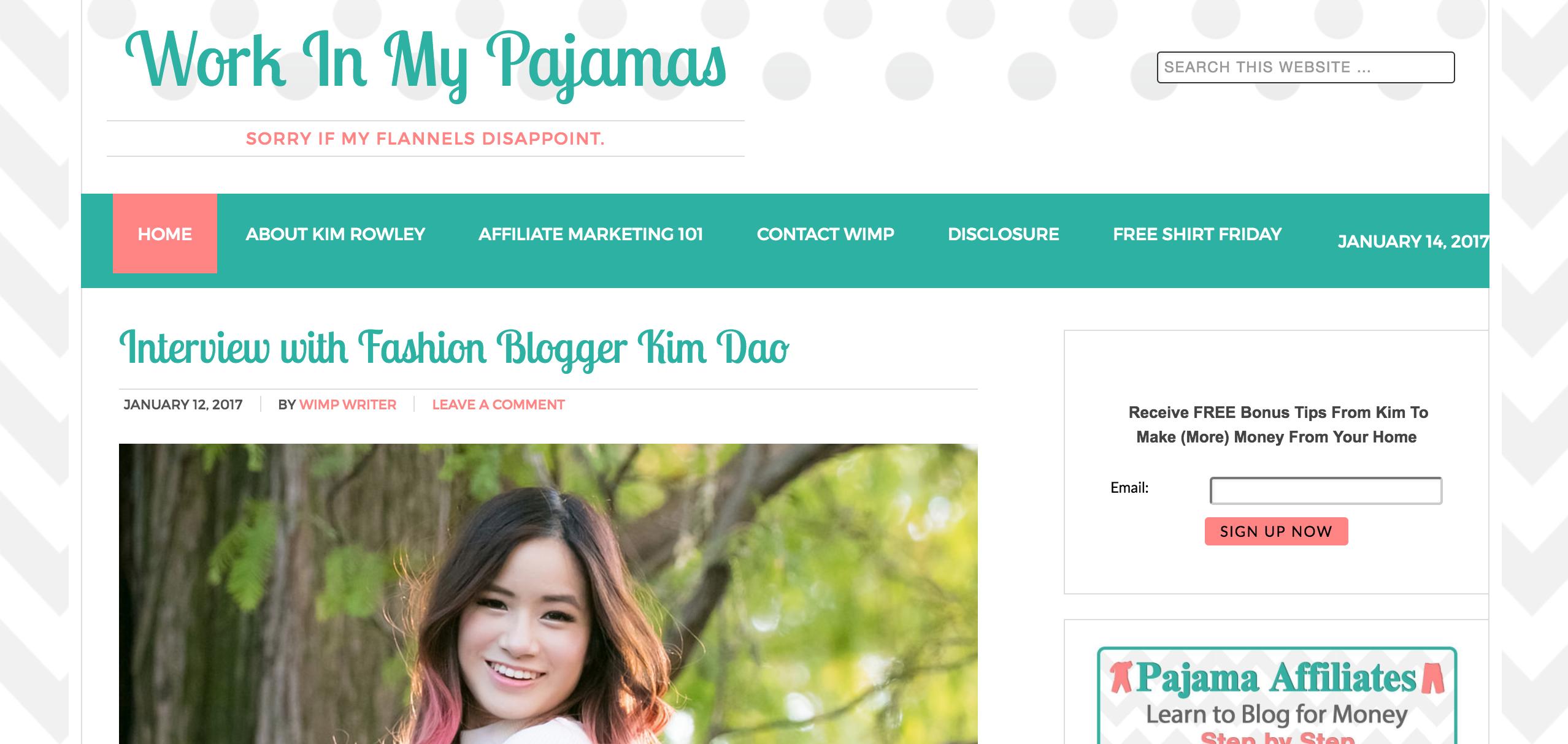 Work in my Pajamas Internet Marketing Blog